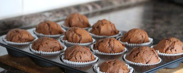 Blumentöpfe gestalten und bunte Muffins backen